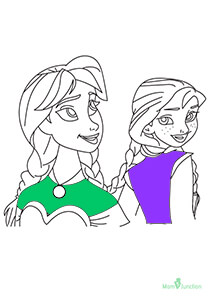 Elsa And Anna Face Carrla