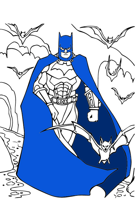 Batman With Bats Group