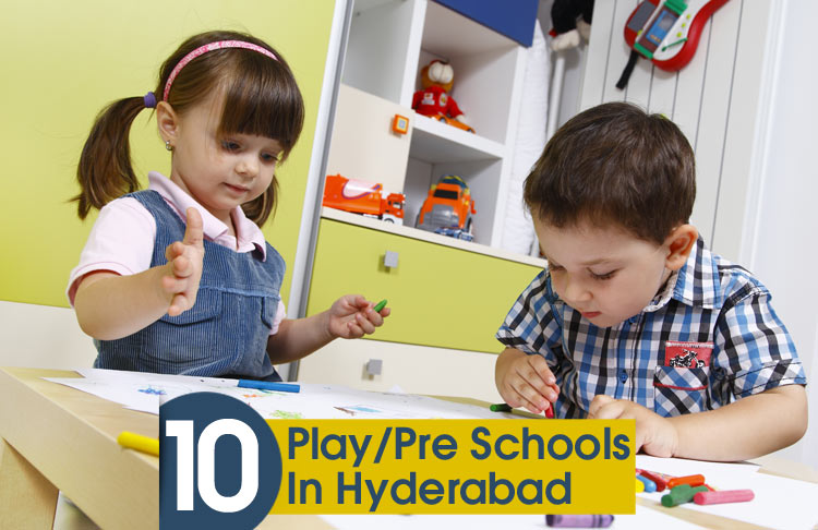 kids playing in play school