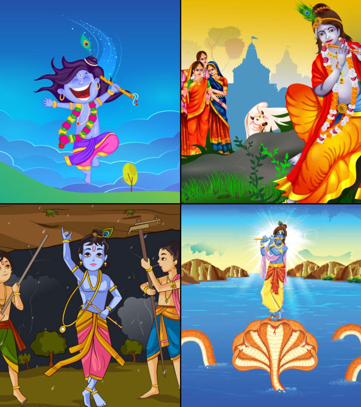 10 Best Lord Krishna Childhood Stories For Kids