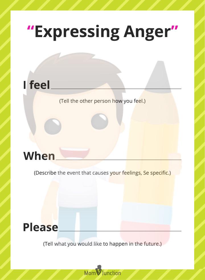 Expressing Anger Worksheet