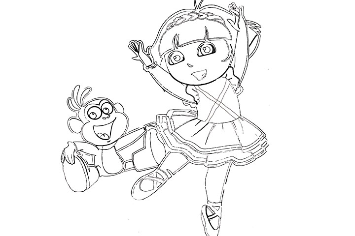 Ballerina Face Coloring Pages Alltoys For