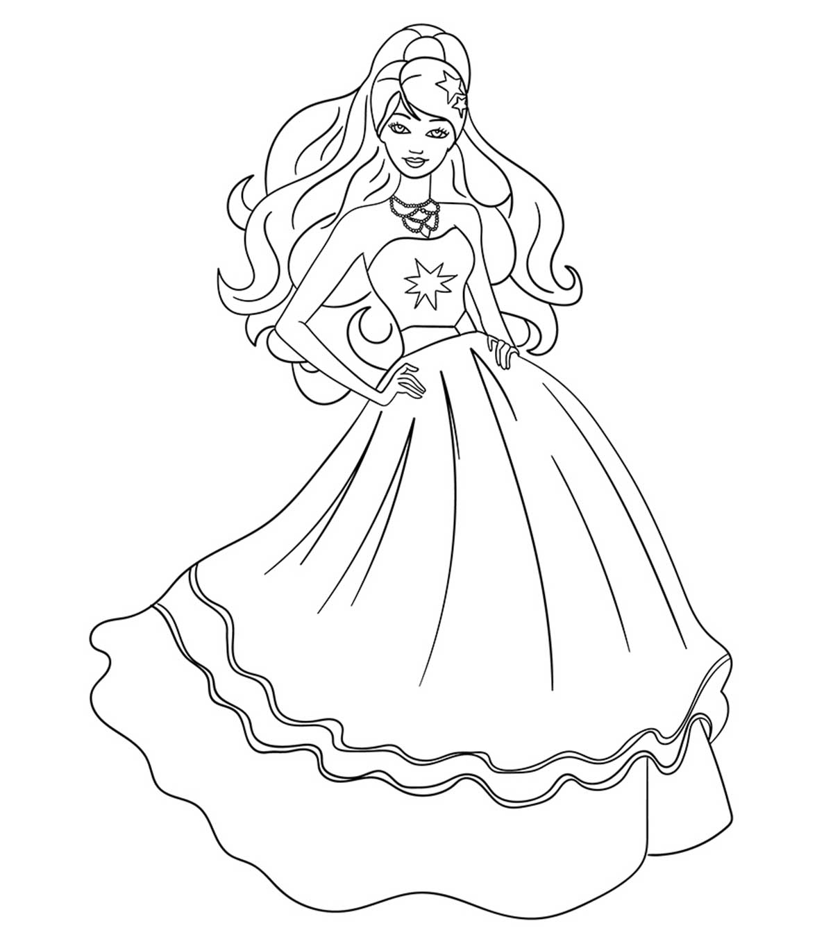 Printable : Princess Charm School Coloring Page | 1350x1200