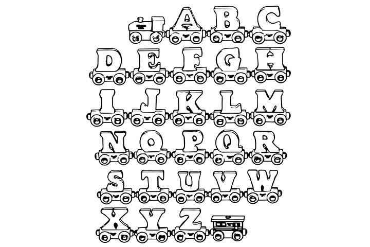 Free Worksheets  Alphabet Train Printable  Free Math Worksheets