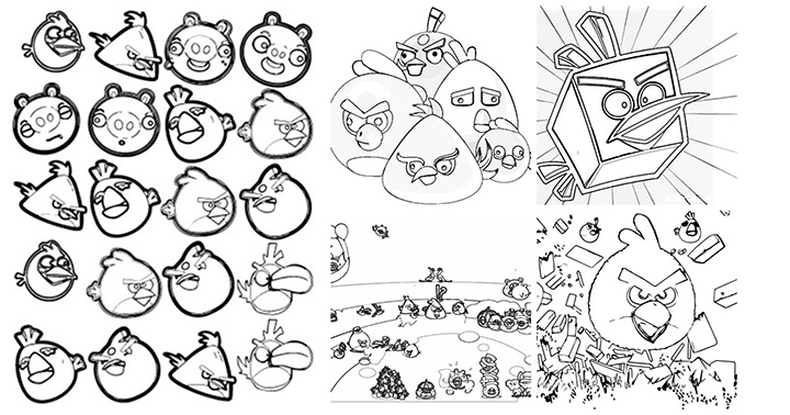 Angry Birds Transformers Colouring Pages Printable Coloring