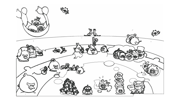 Colouring Pages Angry Birds Epic Free Coloring Of