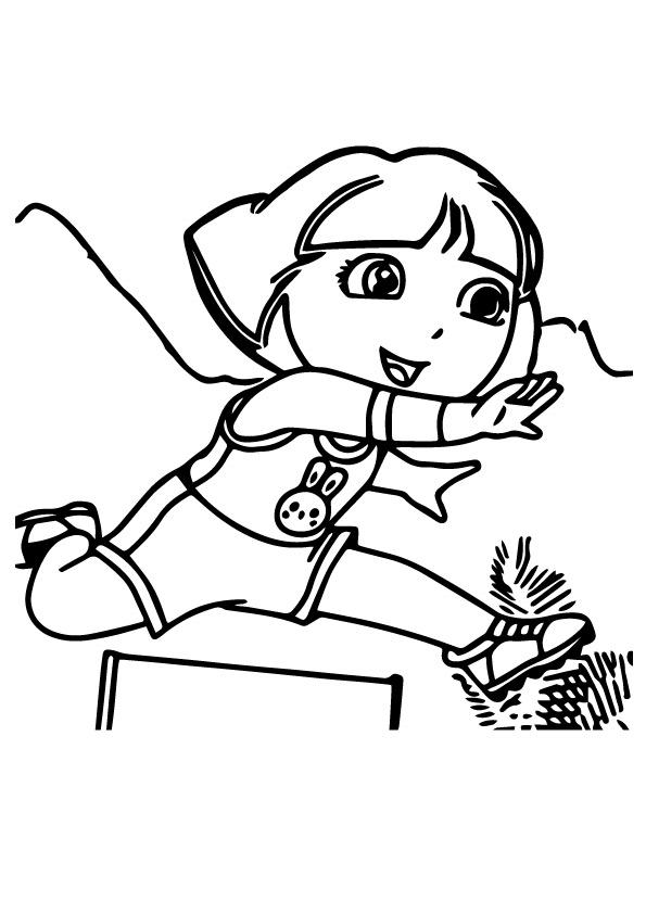 Dora-in-Hurdles-Race