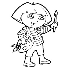 Dora-is-ready-for-Painting