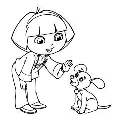 Dora-talking-with-dog