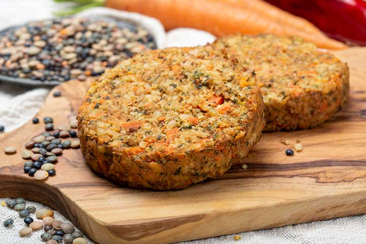 Sprouted Lentils And Veggie Patties