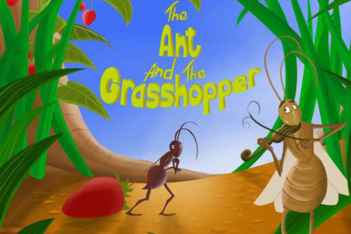 Animal Stories - The Ant And The Grasshopper