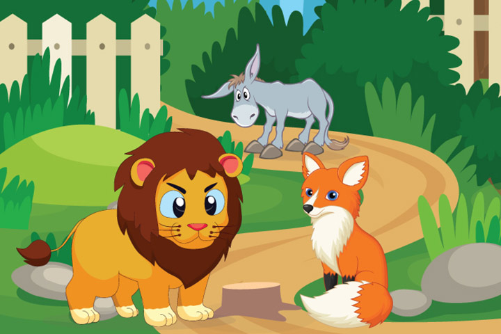 Animal Stories - The Ass, The Fox, And The Lion