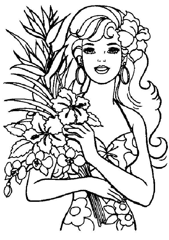The-Barbie-Love-Flowers-color-page