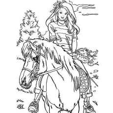 The-Barbie-Loves-Horse-Riding-color-page