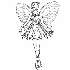 The-Butterfly-Barbie-Princess-color-page