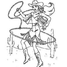 The-Cowboy-Barbie-color-page