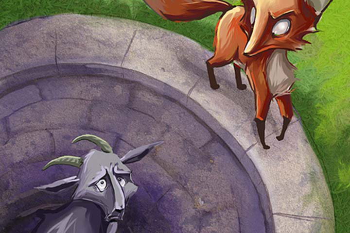 Animal Stories - The Fox And The Goat