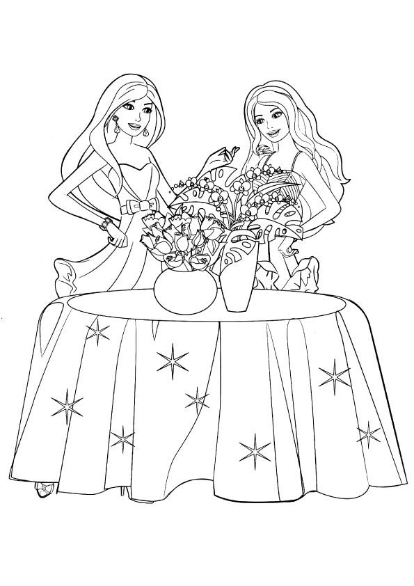 barbie-with-flower-vase