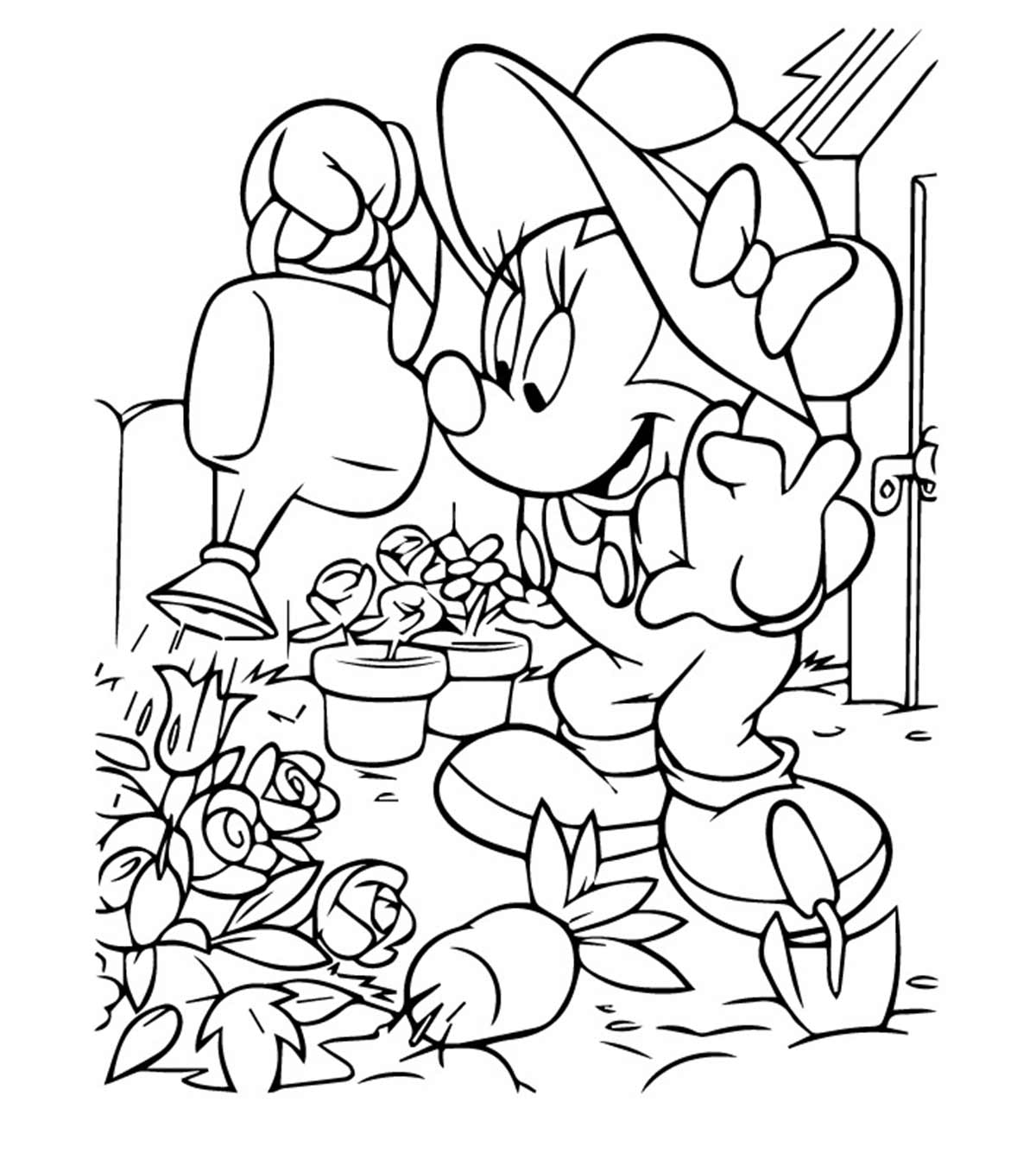 - Top 25 Free Printable Cute Minnie Mouse Coloring Pages Online