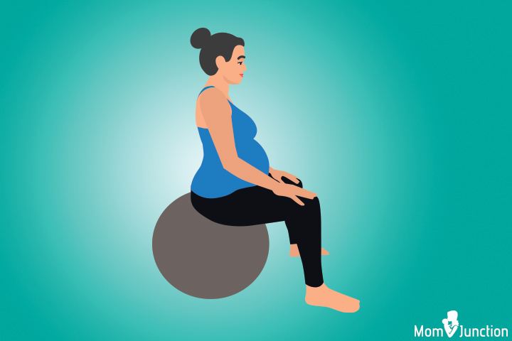 Birthing ball position