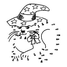 Cat-Wearing-Hat-Join-The-Dots