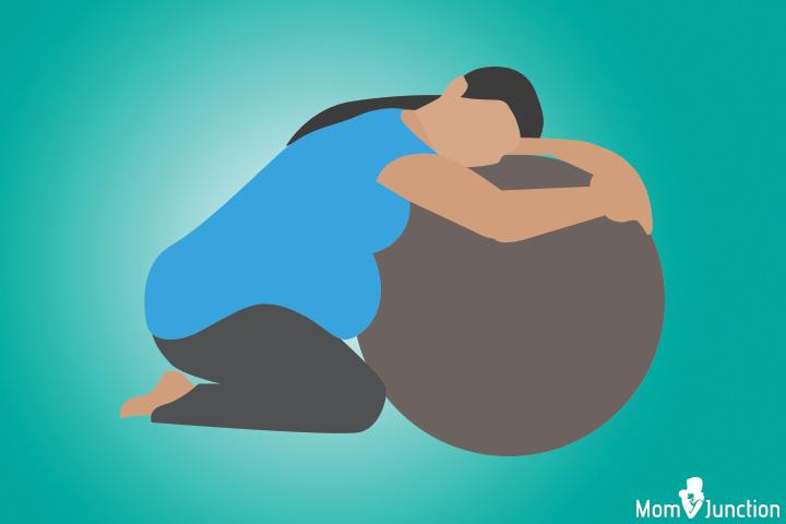 Kneeling birth position