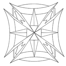 Free Printable Geometric Pattern Shape Coloring Pages