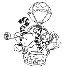 The-Pooh-and-Pals-on-a-Balloon-Ride