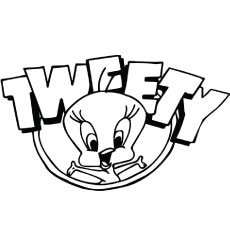 Tweety Poster Coloring Page
