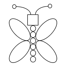 Butterfly in Different Shapes Coloring Page to Print