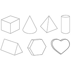 Coloring pages of Different Shapes