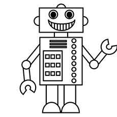 Robot Made in Shapes to Color