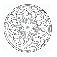 Pattern in Circle Shape Coloring Pages Printable