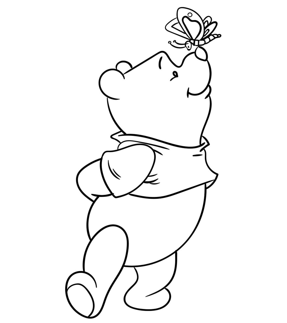 graphic regarding Winnie the Pooh Printable Coloring Pages identify Ultimate 30 No cost Printable Lovely Winnie The Pooh Coloring Internet pages On the net