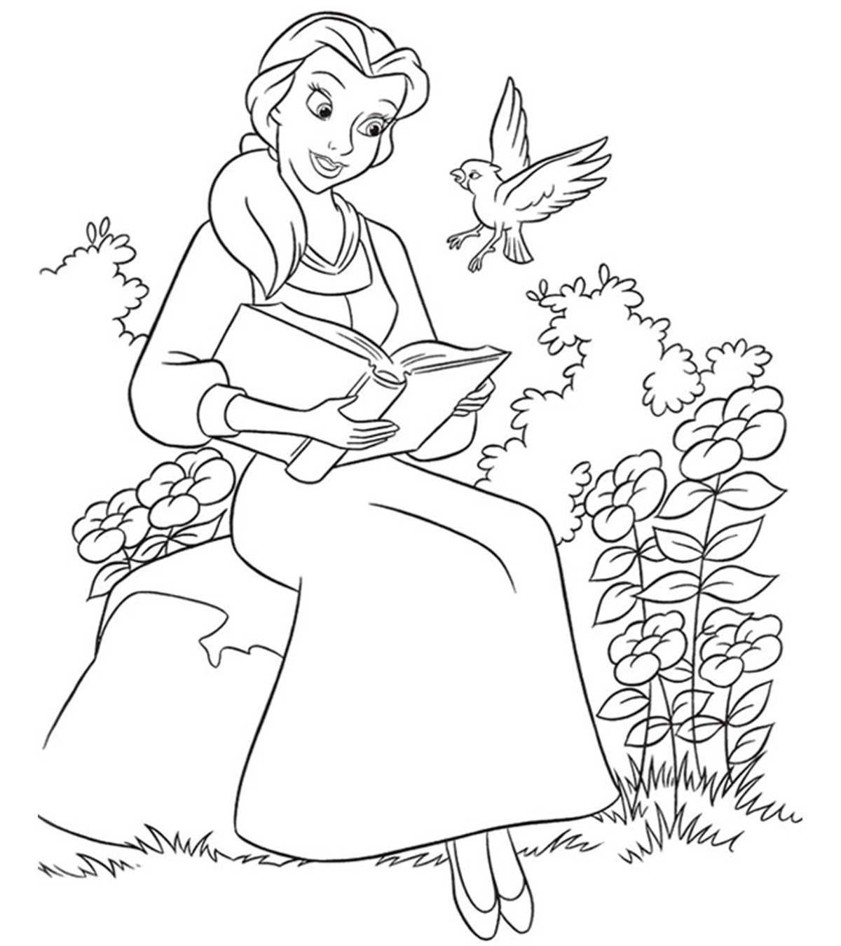 image regarding Beauty and the Beast Printable Coloring Pages named Ultimate 10 Free of charge Printable Attractiveness And The Beast Coloring Webpages On line