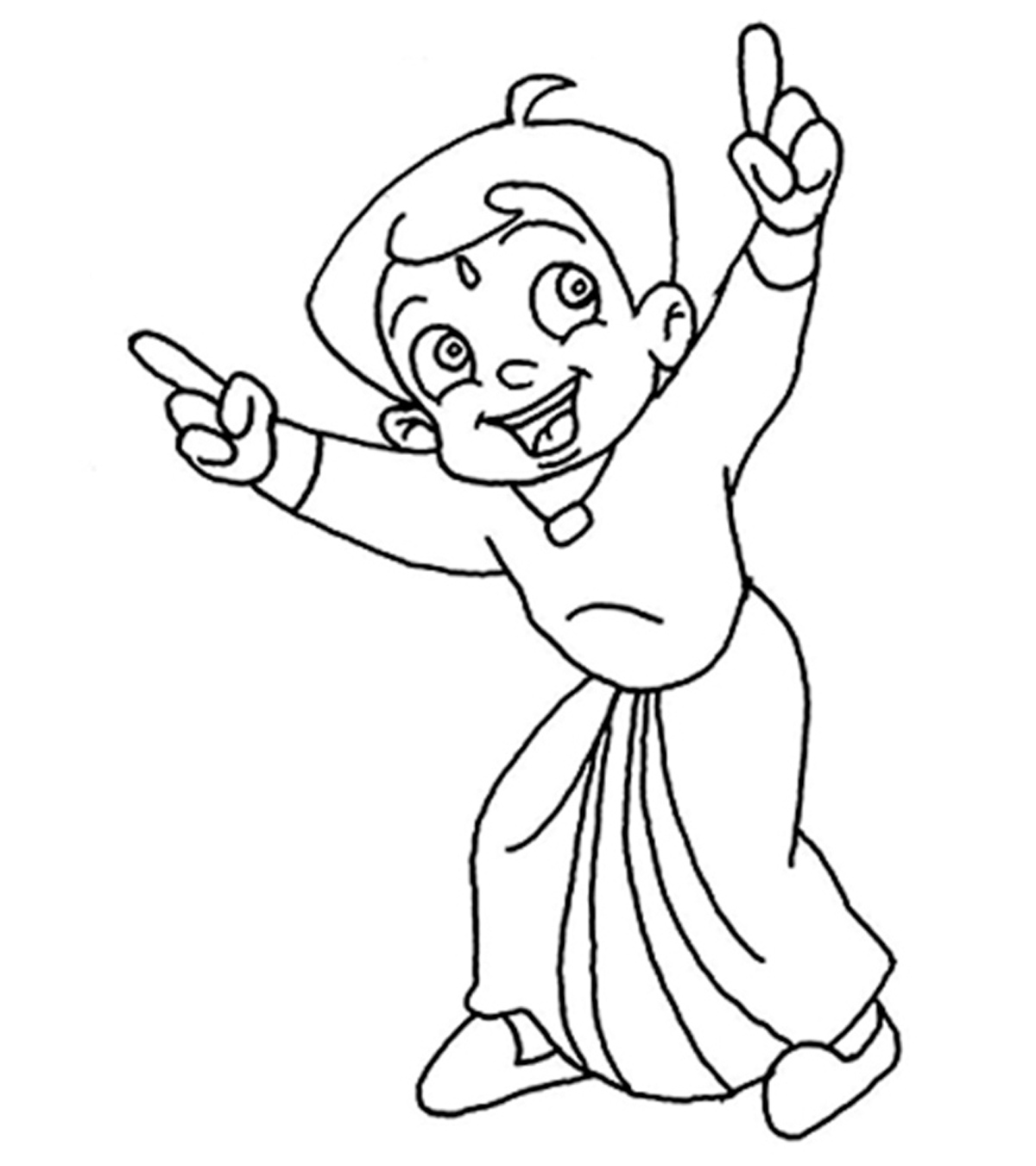 Top 25 free printable chota bheem coloring pages online