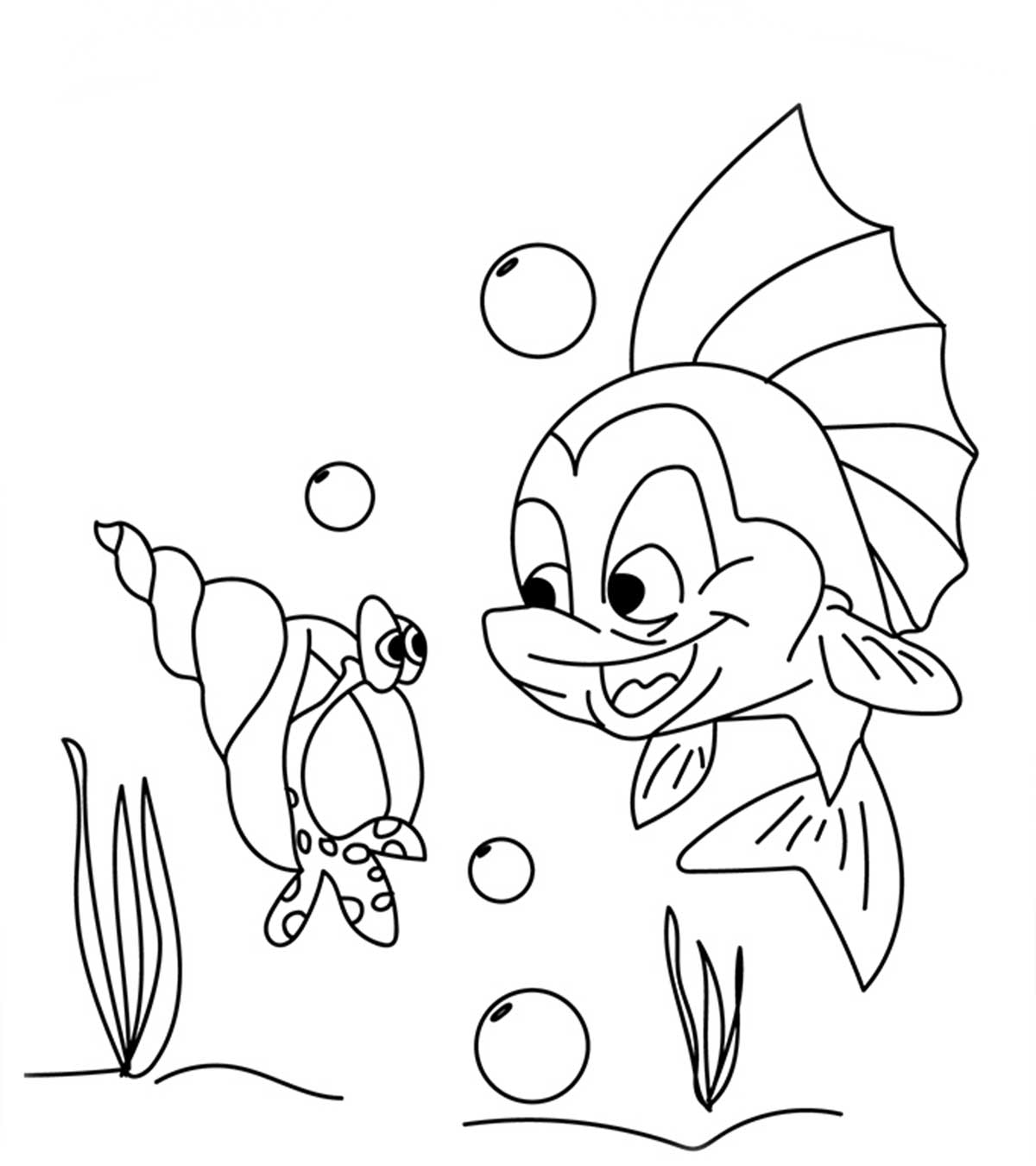 Free Salmon Coloring Page, Download Free Clip Art, Free Clip Art ... | 1350x1200