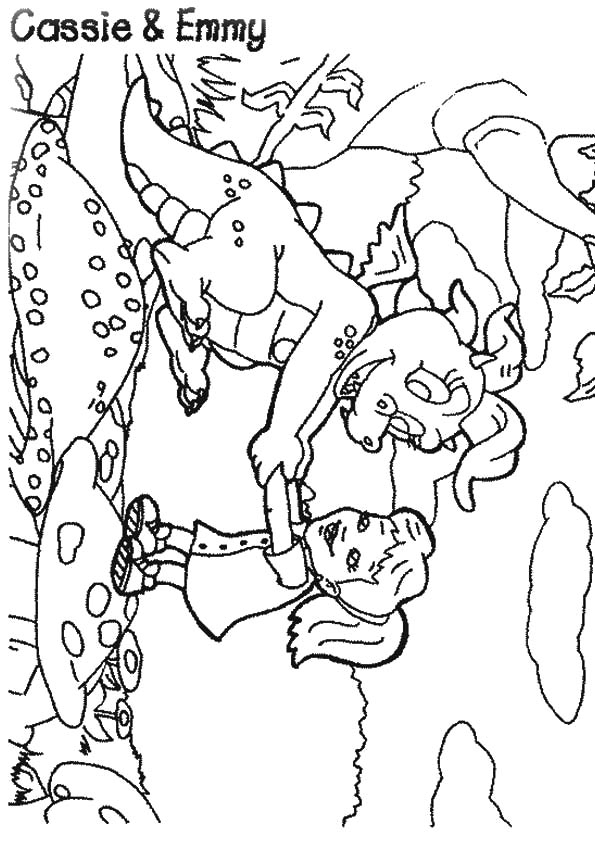 A-Dragon-Tales-Coloring-a-cassie-emmy