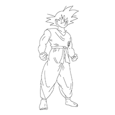 Character Name Gohan from Dragon Ball Z Picture Coloring Page