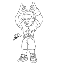 John Cena Coloring Pages Pictures