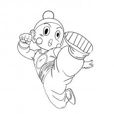 Chiaotzu Character from Dragon Ball Z Coloring Sheet