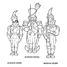 Munchkins Coloring Page to Print