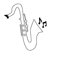 The Saxophone coloring pages