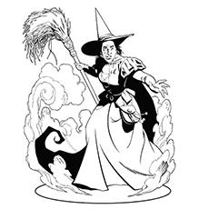 Wicked Witch Of The East Coloring Pages