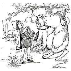 The-Wolf-And-Red-Riding-Hood-In-The-Forest