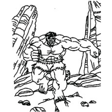 Advancing Hulk on Run Coloring Pictures