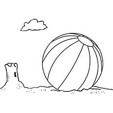 The-beach-ball-and-sand-castle