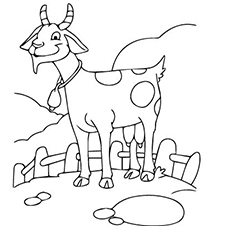 Funny Goat Coloring Pages