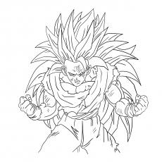 Vegeta Goku Super Saiyan 4 Coloring Pages