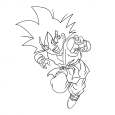 Goten During Childhood Coloring Pages